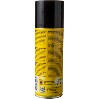 Basta Silicone Spray 200 ml. Bagside