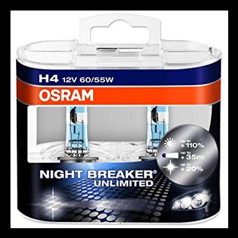 Osram Halogenpære NightBreaker H4
