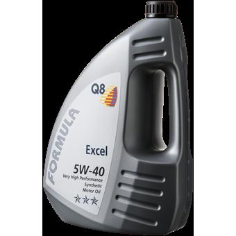 Q8 Formula Excel 5W-40 4 liter Forside