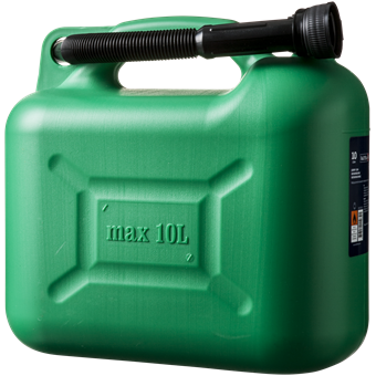 Benzindunk 10L, Grøn Forside