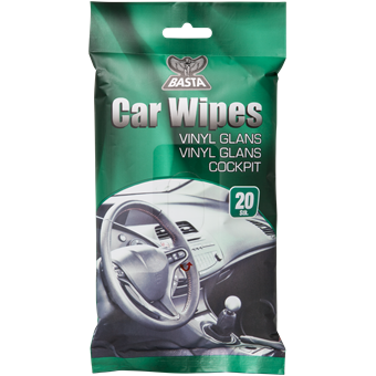 Basta Car Wipes Vinyl Make-up 20 stk. Forside