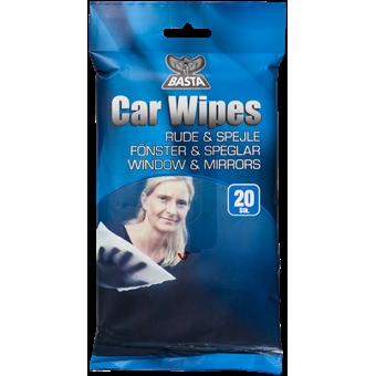 Basta Car Wipes Ruder/spejle 20 stk. Forside